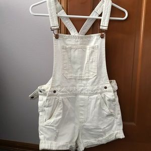 H&M off-white short overalls